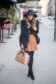 Suede Skirt - Gal Meets Glam