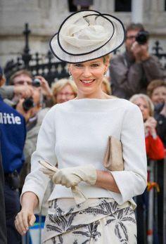 Princess Mathilde, July 21, 2011 in Fabienne Delvigne | Royal Hats