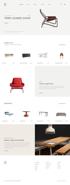 #web #design #inspiration #website #layout #typography #minimal #simple #furniture #modern #ui #ux #responsive