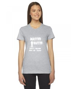 master baiter fishing funny Ladies Fitted T-Shirt