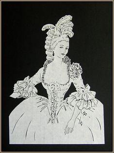 Paper Cut Georgian Lady