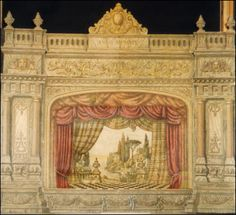 Beautiful vintage toy theater found on a German website at http://www.papiertheater-pollidor.de/was.html