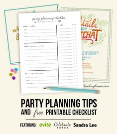 Party Planning Tips and Printable Checklist with livelaughrowe.com #EviteParty
