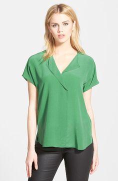 Trouvé Asymmetrical Silk Top   Nordstrom