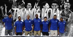 Thank you to these 7 guys that gave us so much in their college careers.I just wanna cry..Love these guys..BBN