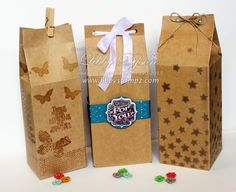 Large Milk Carton with Gift Bag Punch Board