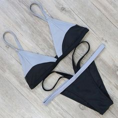 Luna: Two Tone Cheeky Bikini Set – July Pineapple
