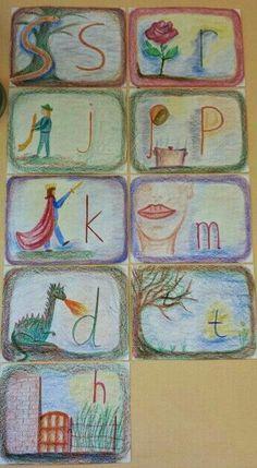 Enseñar las letras en la educación Waldorf. ejemplos gráfico artísticos. | Waldorf en casa para Iberoamerica. Autentico material Waldorf Steiner