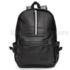 Travel-Rucksack-Camping-Leather-Men-School-Laptop-Satchel-Shoulder-Bag-Backpack
