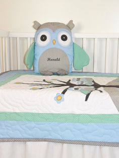 #owl_pillow #stuffed_owl #plushow Owl Pillow Plush Animal, Stuffed Bird, Decorative Cuddly Toy, Baby Shower Gift  Would you like a personalized version of this pillow? Contact