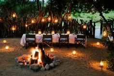 """Fantastic location for a small dinner party! """"Lion Sands Ivory Lodge, South Africa"""""""