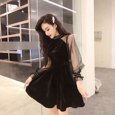 Dress Outfits, Casual Dresses, Short Dresses, Fashion Dresses, Cute Outfits, Korean Fashion Trends, Asian Fashion, Girl Fashion, Fashion Design