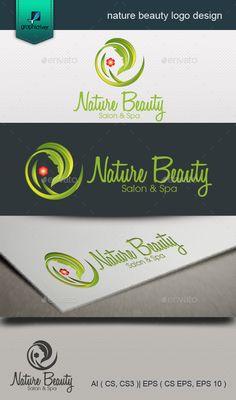 nature beauty logo design: Nature Green Logo Design Template by emghazi. Beauty Logo, Beauty Spa, Logo Design Template, Logo Templates, Logan, Green Logo, Logo Inspiration, Body, Company Logo