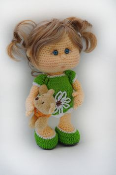 Häkelanleitungen - Häkelanleitung Puppe Nina - ein Designerstück von Colorfuldreams bei DaWanda