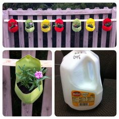 The Goddard School located in Hilliard II, OH created planters on the playground from upcycled milk jugs. The flowers planted attract butterflies for classroom observation.