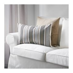 RAGNBORG Cushion cover IKEA The zipper makes the cover easy to remove. Choose between a feather- or polyester-filled inner cushion.