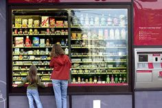 A RedBox vending machine test venture that was terminated Healthy Vending Machines, Vending Machine Business, Container Shop, Future Shop, Cheap Coffee, Egg Salad, Machine Design, Car Shop, Kiosk