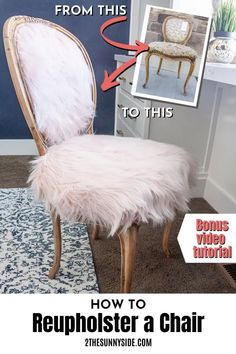 See how easy it is to reupholster a chair! Do you love French country style as well as Boho. See how we combined the two styles with this DIY furniture makeover. We transformed a neglected thrift store chair. We will show how we refinished the wood giving it that beautiful raw wood look. You will also learn how easy it is to reupholster a chair with French country and boho flair. Diy Old Furniture Makeover, Diy Dresser Makeover, Diy Furniture Projects, Repurposed Furniture, Painted Furniture, Diy Projects, French Country, Country Style, Boho Style
