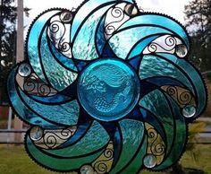""""""""""" Art Glass Festival – Winners """""""" 2018 Online Art Glass Festival Small Panels Place Winner: Charlene K. Stained Glass Designs, Stained Glass Panels, Stained Glass Projects, Stained Glass Patterns, Stained Glass Art, Mosaic Art, Mosaic Glass, Fused Glass, Window Art"""