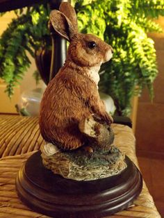 Vintage Rabbit_Made in England_Hand by GoldenBeeAntiques on Etsy, $45.00