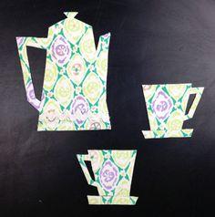 Vintage fabric magnets  Retro Coffee Pot Coffee by HawthornBramble, $7.50