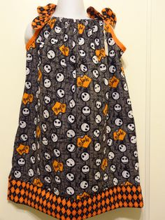 Nightmare Before Christmas Jack Head Toss Pillow Case Dress Disney Halloween, Made to Order Sizes 6-9, 12-18, 18-24 mnths, & 2 to 8 by DesignsByGranGran on Etsy
