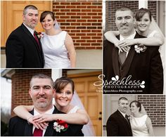 Kevin & Cassidy say I do - Clover, SC Wedding Photography, bride and groom pose outdoors in front of church on steps, bride looking at groom, posing for short bride and tall groom, posing on steps, posing on stairs