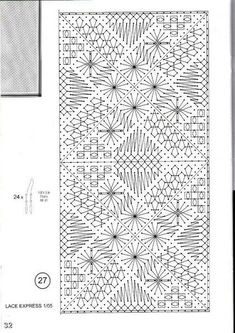 Photo Bobbin Lace Patterns, Bead Loom Patterns, Crochet Stitches Patterns, Weaving Patterns, Cross Stitches, Hairpin Lace Crochet, Crochet Motif, Crochet Edgings, Crochet Shawl