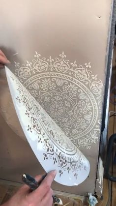 Funky Furniture, Paint Furniture, Furniture Makeover, Wall Texture Design, Wall Design, Stencil Decor, Painting Stencils, Stenciling, Wall Collage