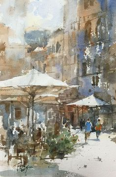 Watercolor Practice, Wu Shang-Fen, 18x27CM.