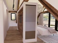 Building Design, Building A House, Loft Conversion Bedroom, Farmhouse Renovation, Loft Room, Home And Living, Master Bedroom, House Plans, Sweet Home