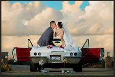 Bride & groom with Corvette photo, © Stephanie Secrest artistic wedding photography Photojournalism, Wedding Pics, Corvette, Of My Life, Bride Groom, Wedding Photography, Image, Photo Ideas, Death