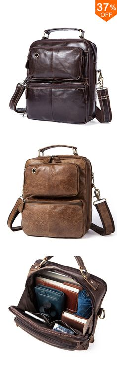 Free Shipping-New Fashion Men Retro Leather Handbag Shoulder Bag Business Casual Crossbody Bag