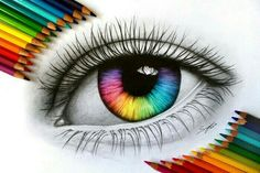 art, drawing, and eyes imageの画像