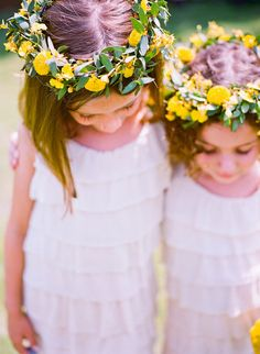 Flower crowns for flower girls.. though I have no idea who would be flower girls.
