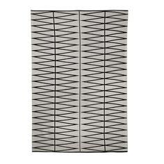 Diamond Print Rug - Grey/Black - 140x200cm from Bloomingville - £149