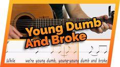Young Dumb and Broke Guitar Tutorial AND Guitar Karaoke // Khalid // Easy Lesson // Beginner Chords