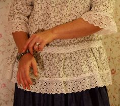 """Купить Блузка льняная белая """"Снежность"""" - белый, цветочный, блузка женская…"""
