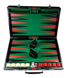 Vintage Gucci Style Mid Century Modern Backgammon Game Board and Case