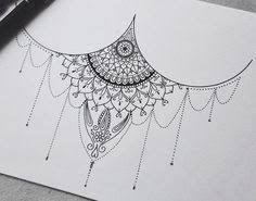 Resultado de imagem para lotus mandala underboob tattoo