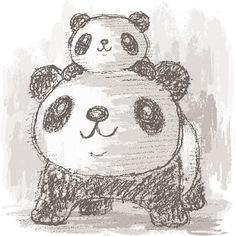 Panda drawing on Behance