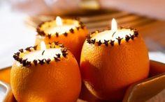 Orange and Clove Candle Holder Noel Christmas, Christmas Crafts, Christmas Decorations, Xmas, Table Decorations, Diy Decoration, Navidad Diy, 242, Diy Candles
