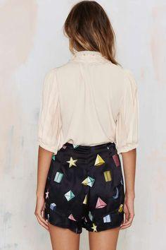 Samantha Pleet Strata Silk Shorts - Shorts