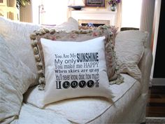 You are my sunshine   Housewares,pillow,throw pillows,...Winnie the Pooh...personalized with name. $23.95, via Etsy.