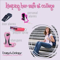 you have a daughter going to or in College? Give a gift of safety with a Damsel In Defense care package! Go to our website to order on line or contact us directly. Damsel In Defense, Self Defense Women, Self Defense Tips, Personal Safety, Home Based Business, Safety Tips, Single Women, Sprays, That Way