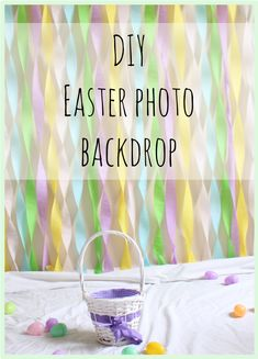Photographers can be so expensive. Instead, I set up this cute diy backdrop and … Photographers can be so expensive. Instead, I set up this cute diy backdrop and took pictures of my kids myself for Easter. Spring Pictures, Holiday Pictures, Holiday Ideas, Easter Backdrops, Picture Backdrops, Diy Backdrop, Backdrop Stand, Easter Crafts, Easter Ideas