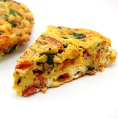 frittata..i skipped all cheese but parmesan in eggs. used half n half no cream. used gloat cheese. yum
