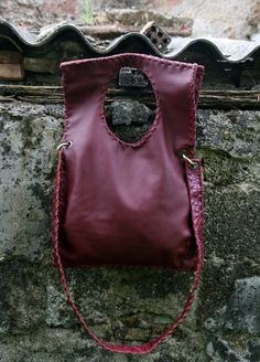 Check out our messenger bags selection for the very best in unique or custom, handmade pieces from our shops. White Sandals, Open Toe Sandals, Leather Bags Handmade, Handmade Bags, Cheap Sandals, Italian Leather, Bordeaux, Black Shoes, Red Leather