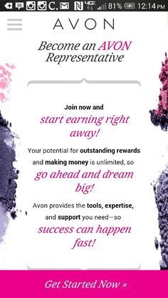 AVON Be your own boss for just $15 investment! Let me shownyou how! https://youravon.com/kim_blake #AVON #beyourownboss #money #beauty #holidaycash