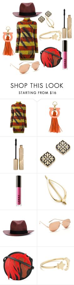 """Outfit Teenager"" by racheal-taylor ❤ liked on Polyvore featuring Moschino, Salvatore Ferragamo, Stila, Kate Spade, LORAC, Elizabeth and James, rag & bone, Linda Farrow, Just Cavalli and Ariel Gordon"